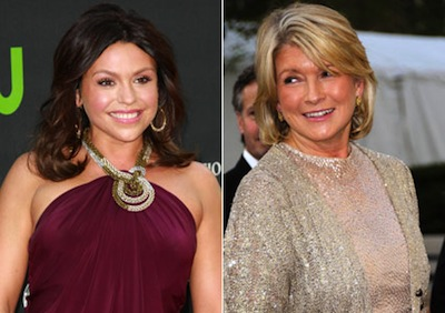 Rachael Ray and Martha Stewart