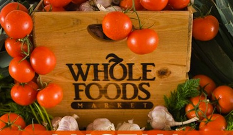 Whole Foods wooden sign