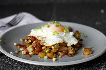 bacon and corn hash