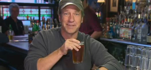 Mike Rowe with a beer