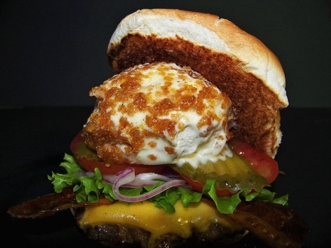 Fried ice cream burger
