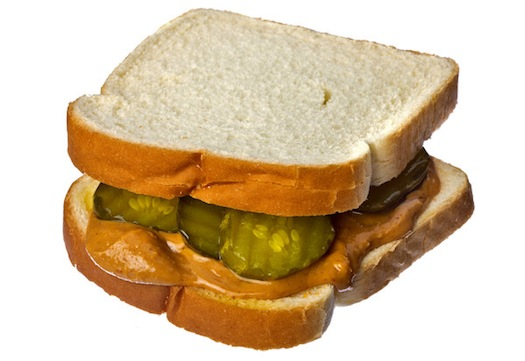 Peanut butter and pickles