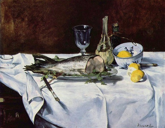 Salmon picture by Manet