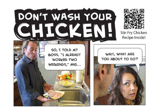 Don't wash your chicken
