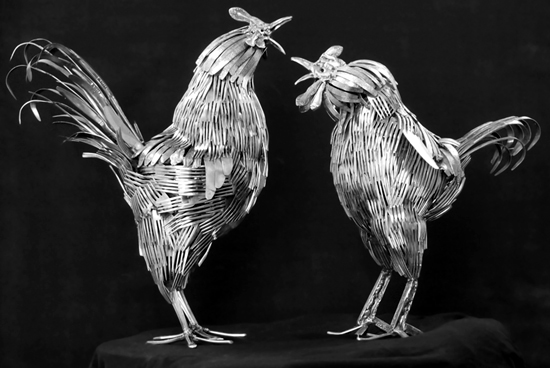 rooster sculpture