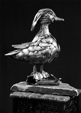 wood duck sculpture