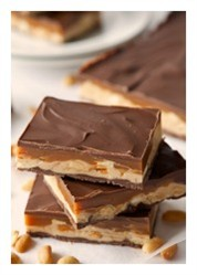 Caramel chocolate nougat