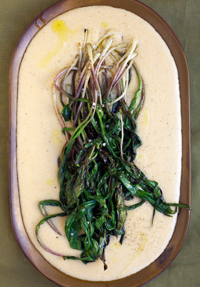 Ramps & Cheddar Grits