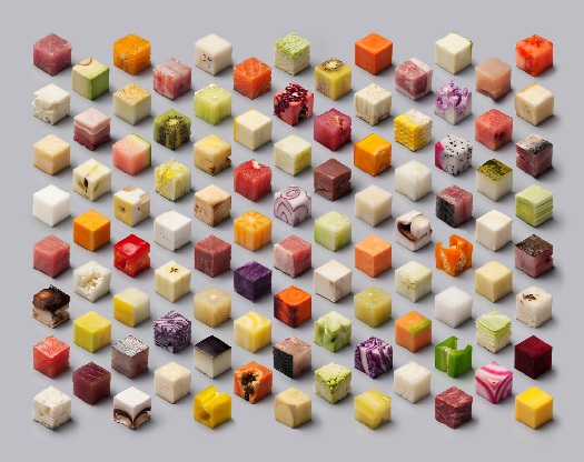 cubed food