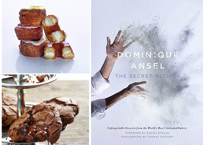 Dominique Ansel cookbook and cronuts