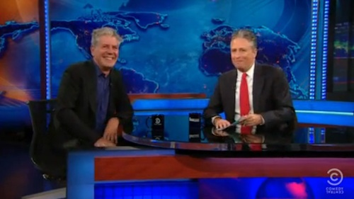 Bourdain on the Daily Show